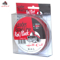 Splétaná šňůra Hell-Cat - Leader Braid Line Red/Black 20m|1.40mm/125kg