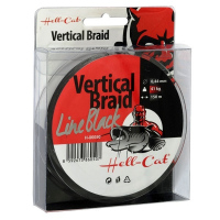Hell-Cat Splétaná šňůra Braid Line Vertical Black 0.37mm, 33kg, 150m